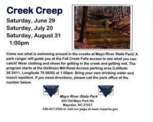 Creek Creep @ Mayo River State Park @ Mayo River State Park-Deshazo Mill Road Access | Stoneville | North Carolina | United States