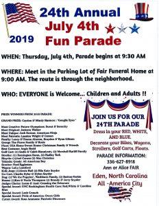 July 4th Fun Parade @ Fair Funeral Home Parking Lot | Eden | North Carolina | United States