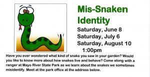 Mis-Snaken Identity @ Mayo River State Park @ Mayo River State Park | Mayodan | North Carolina | United States