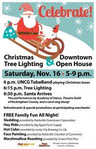 Reidsville Christmas Tree Lighting & Downtown Open House